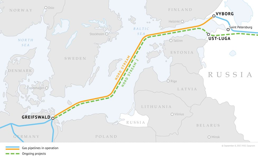 The  Mile Nord Stream 2 Undersea Link To Germany Initiated By Russia In 2015