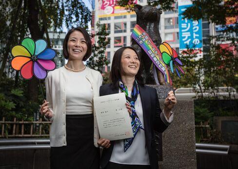Koyuki Higashi, left, and Hiroko Masuhara in Shibuya