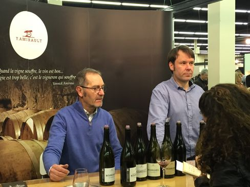 Yannick Amirault (left), a wine producer from the Bourgueil region of France's Loire Valley.
