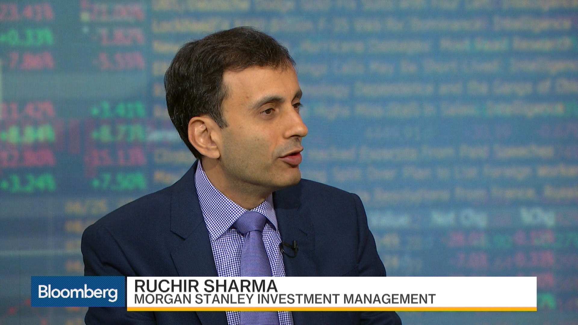 Sharma Sees Trend of U S  Underperforming the World