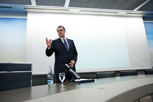 Swiss National Bank Interim Chairman Thomas Jordan
