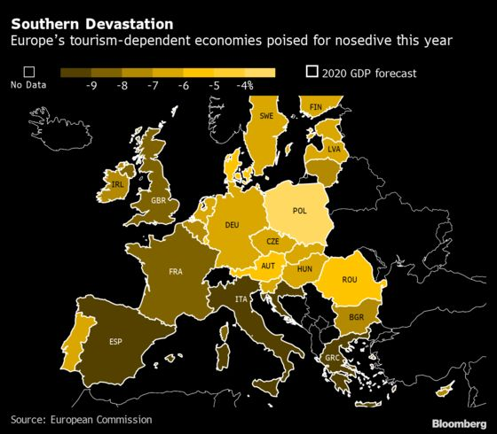 Euro Area Under Threat From Uneven Virus Shock, EU Warns
