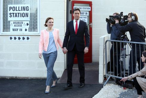 Labour Party Leader Ed Miliband Votes In Sutton