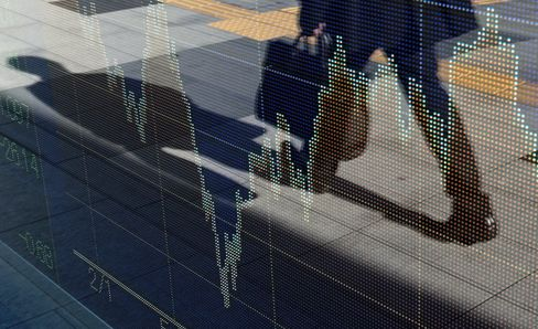 Stock Board in Tokyo