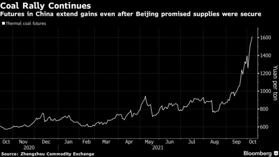 Coal Swings as Traders Weigh China's Vow to Keep the Lights On