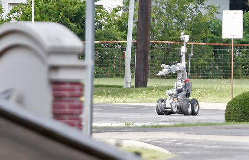 The robot used by Dallas Police in an operation last June.