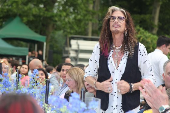 Aerosmith's Tyler Croons for BNP's Fillion at NYC Parks Benefit