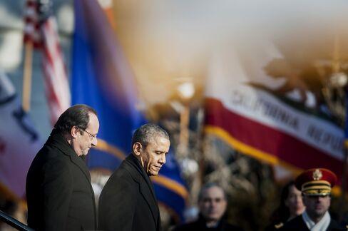U.S. President Obama & French President Hollande