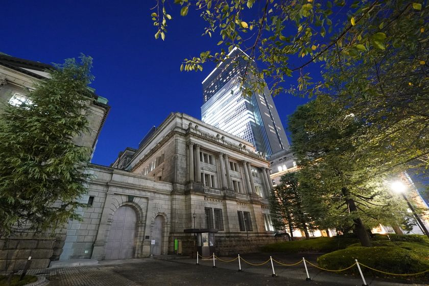 Bank of Japan Headquarters Ahead of It's Business Confidence Tankan Report