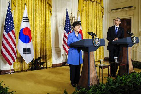 U.S. & South Korean President Barack Obama & Park Geun Hye