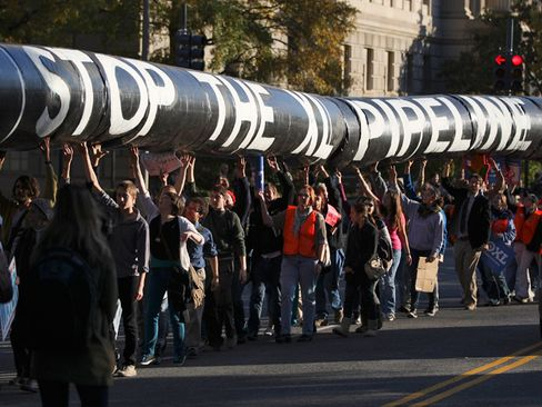 Pipeline's Opponents Urge Obama to Buck 'Oil Power'