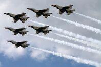 U.S. Air Force Thunderbirds Rehearse For Weekend Air Show