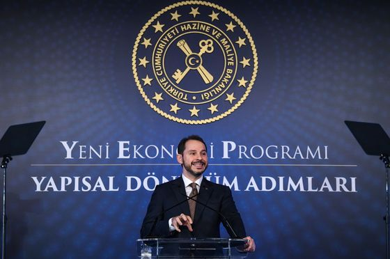 Albayrak Says Turkey's First Recession in Decade May Be Over