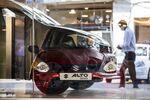 Maruti Suzuki India Ltd. Alto vehicle at one of the automaker's showrooms in New Delhi, India.