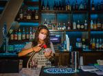 A bartender makes a drink at a nightclub in Columbia, South Carolina.