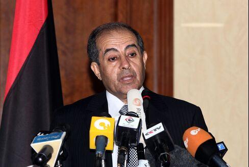 Libya's NTC Prime Minister Mahmud Jibril