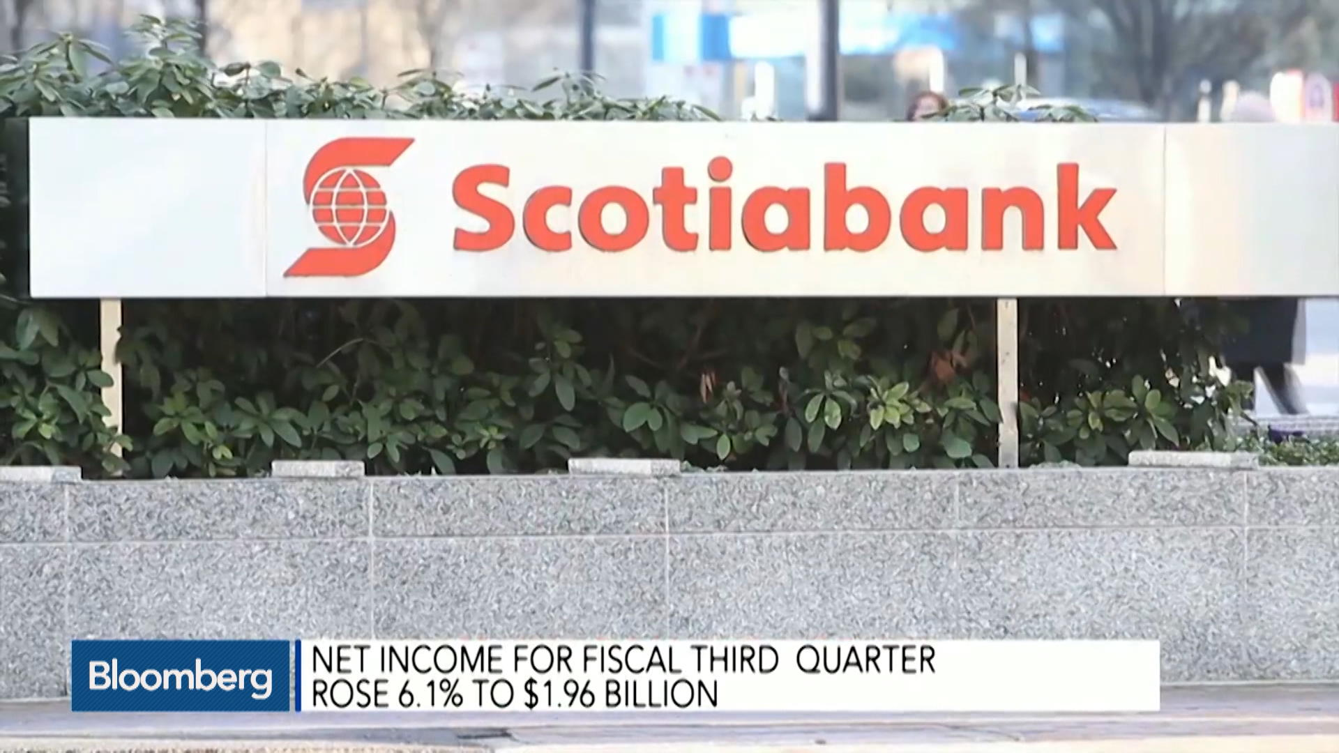 Scotiabank CEO Sees Continued Growth Ahead - Bloomberg