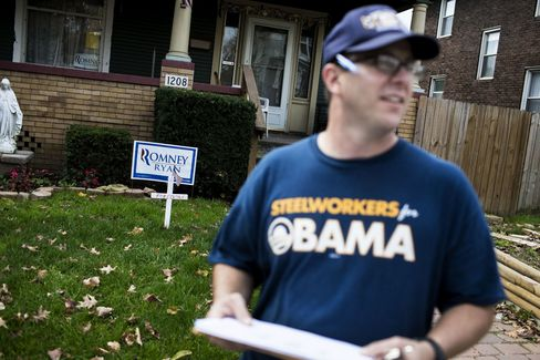 Ohio Wavers on Obama as Labor Sees Lost Wages Vie With New Steel