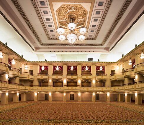 The main ballroom at the Waldorf Astoria.