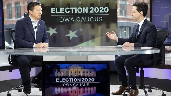 Andrew Yang Says Supporters May Go to Sanders in Iowa Caucus