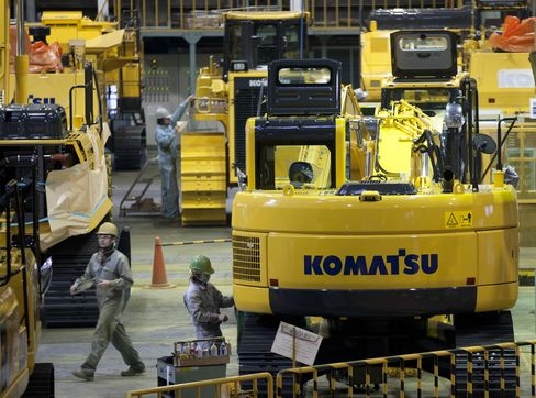 Komatsu CEO Sees China Construction Rebound Next Fiscal Year