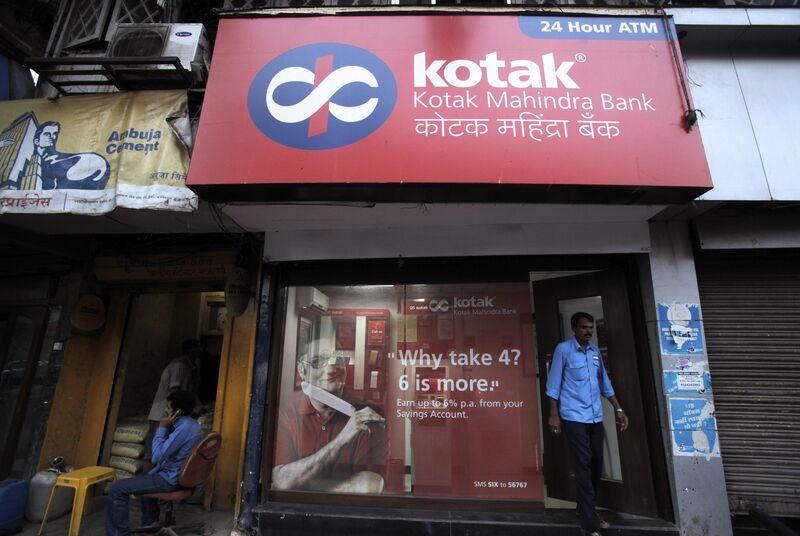 A Kotak Mahindra Bank Ltd. branch in Mumbai, India.