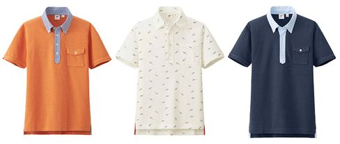 Select pieces from Uniqlo x Michael Bastian polo shirt line.