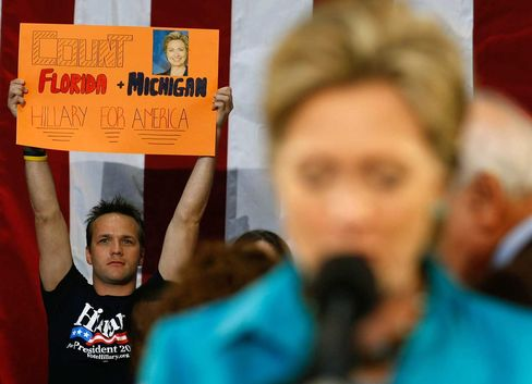 In 2008, then-U.S. Senator Hillary Clinton spoke to supporters in Boca Raton during her fight for the Democratic presidential nomination with then-Senator Barack Obama.