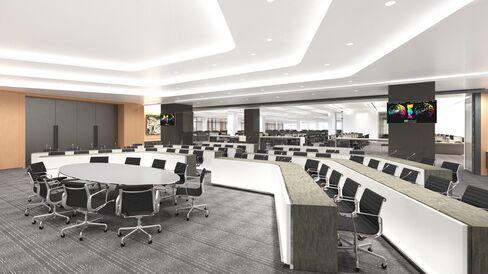Goldman Sachs trading hub redesign