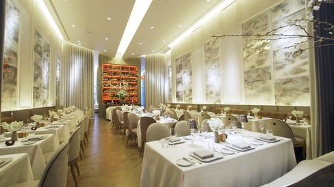 Chevalier is a luxurious French brasserie, featuring Baccarat crystal.