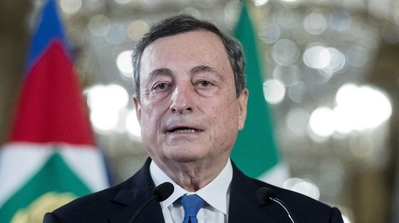 Draghi Meets Italy President After Gaining Main Parties' Backing