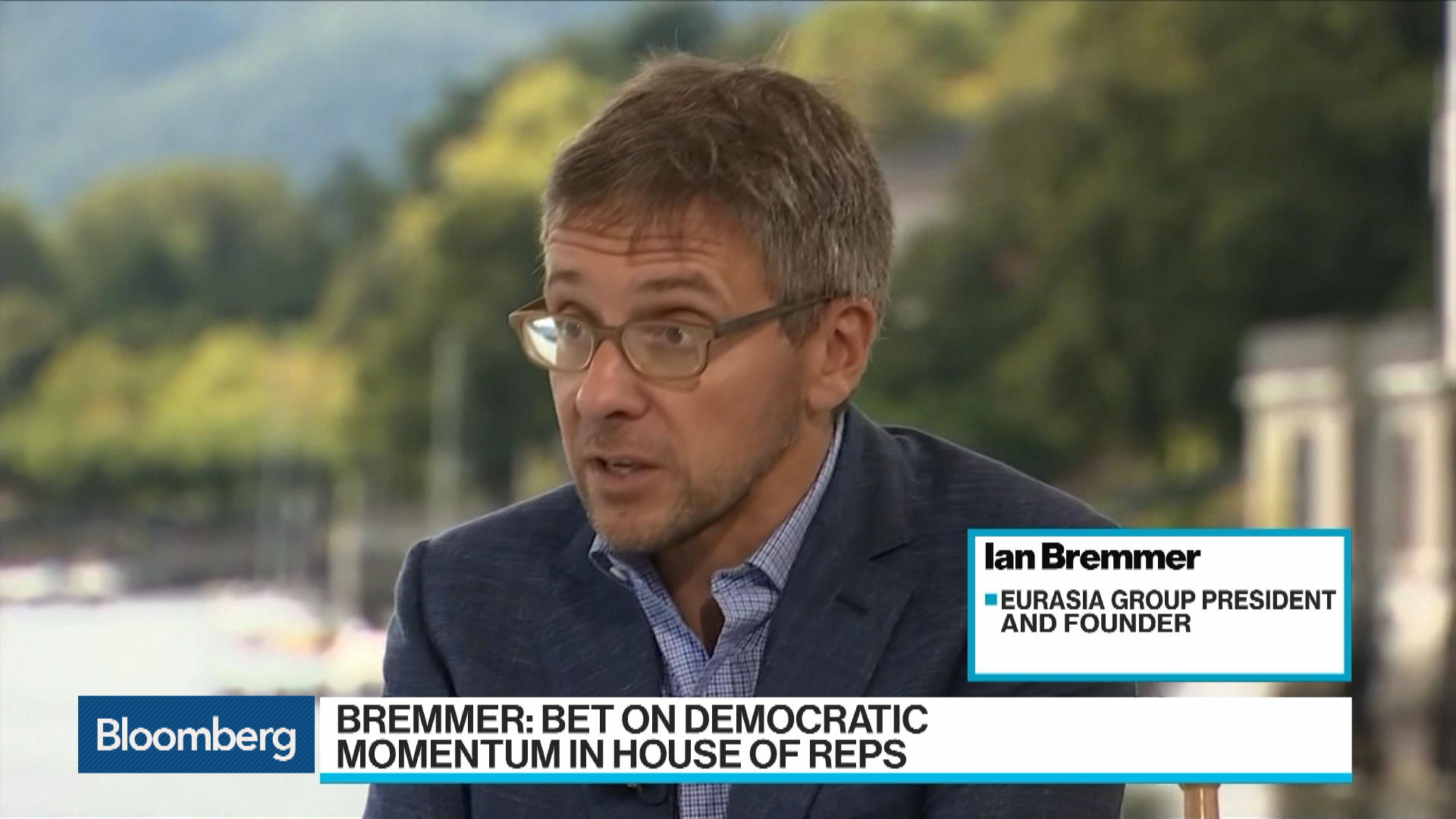 Bremmer Sees Democrat `Momentum' in House at Midterms