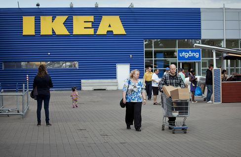 Customers Arrive at and Depart from an Ikea AB Store