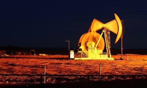 An Oil Pump Jack Operates