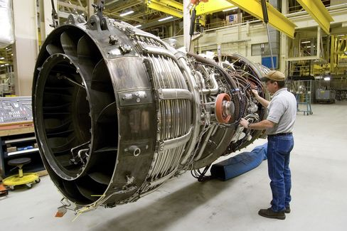 GE Sees Record Jet-Engine Output
