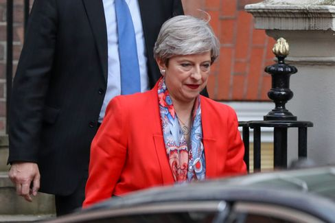 U.K. Prime Minister And Leader Of The Conservative Party Theresa May Reaction Following The Results Of General Election