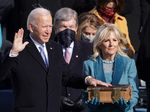 Joe Biden is sworn in as U.S. President during his inauguration on the West Front of the U.S. Capitol on January 20, 2021 in Washington, D.C.