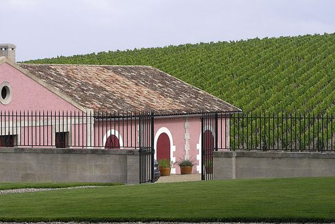 Chateau Lafite Rothschild's cellar and vineyards in Pauillac, France.