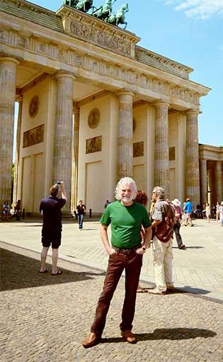 Leavell at Berlin's Brandenburg Gate