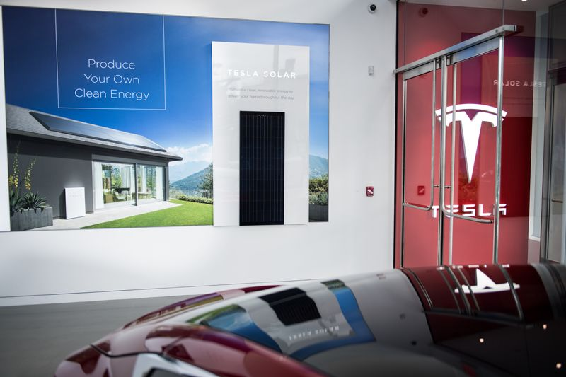 The New Tesla Inc. Showroom In New York.