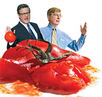 Joe Scarborough and George Will