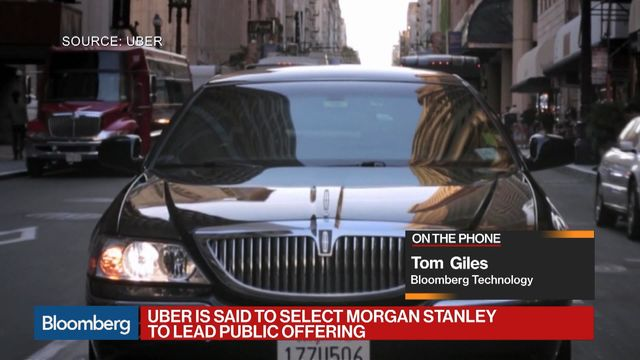 Morgan stanley team uber ipo