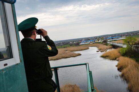 The Ukraine-Moldova border on April 15, 2014.