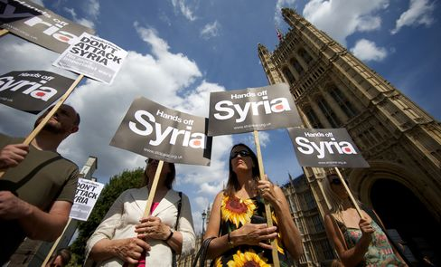 U.K. Lawmakers Reject Cameron Plan for Syria Military Action