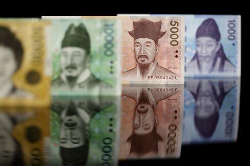 South Korean Won Banknotes