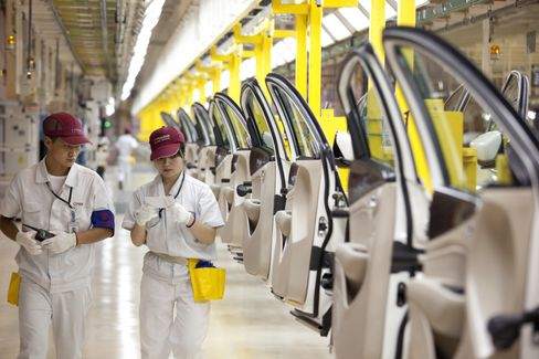 China Manufacturing Expands at Slowest Pace in Eight Months