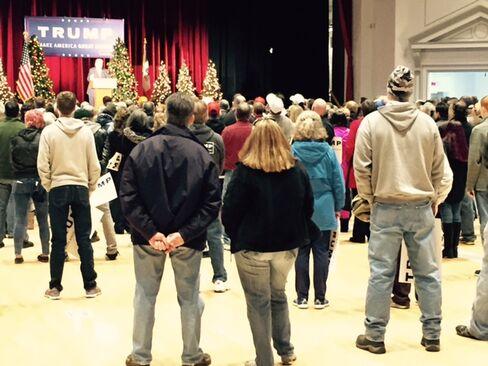 Donald Trump spoke Saturday in Cedar Rapids, Iowa.