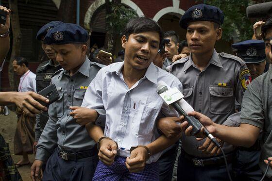 Myanmar Sentences Reuters Journalists to Seven Years in Jail
