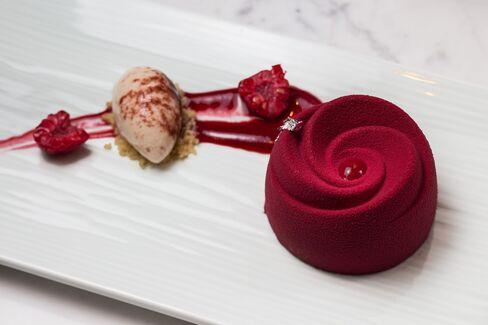 Yauatcha's raspberry delice.