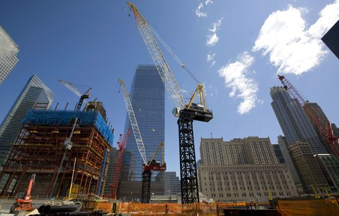 The World Trade Center construction site